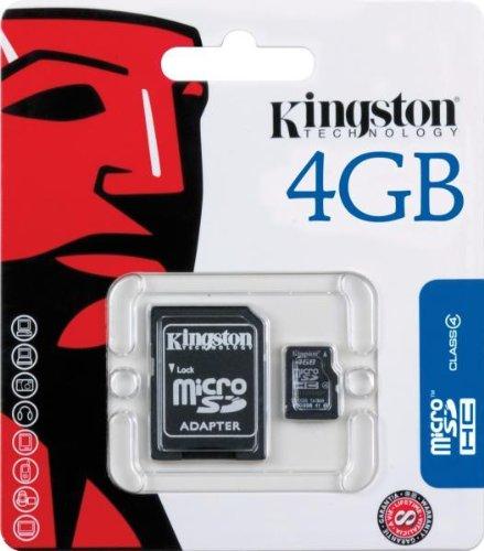 Kingston 4 GB microSDHC Class 4 Flash Memory Card SDC4/4GB