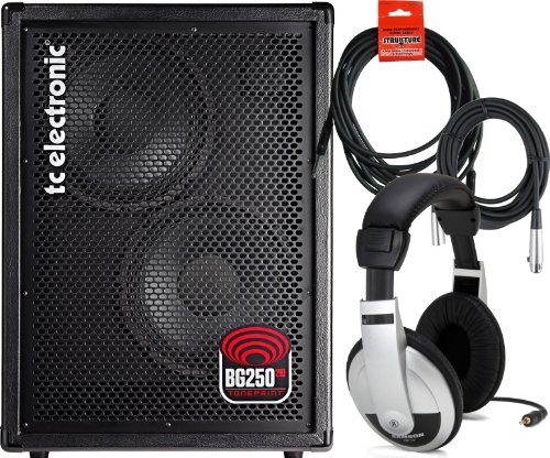 Tc Electronic Bg250 / 210 Combo Bass Amp W/ 2 Cables And Headphones