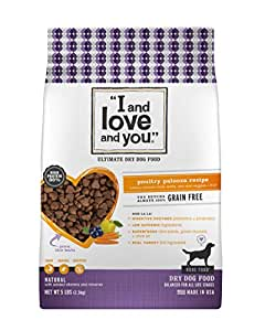 I and Love and You, Nude Food Dog Food, Grain Free Natural Kibble, Poultry Palooza, 5Lb