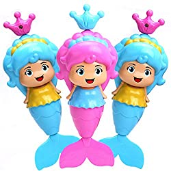 Lovely Mermaid Bath Toy ,Fun Bath Toys , Water Toys , Wind Up Toys ,Toys for Bath Time , Little Mermaid (Pack of 1 Mermaid Toy)