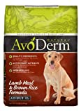 AvoDerm Natural Lamb Meal and Brown Rice Formula Adult Dog Food, 15-Pound