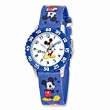 Disney Kids Mickey Mouse Printed Fabric Band Time Teacher Watch: Length 7.25 in