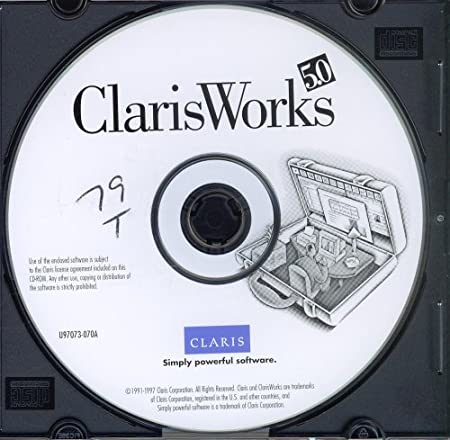 CLARISWORKS 5.0 - BUSINESS WORDS PROCESSING SOFTWARE