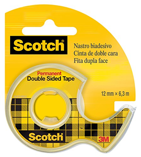 Scotch 768720 Double Sided Adhesive Tape with Dispenser