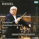 ベートーヴェン:序曲「エグモント」、交響曲第6番「田園」、交響曲第5番「運命」、J.S.バッハ:G線上のアリア (Kegel / Beethoven : Symphonies Nos. 5 & 6, Egmont, Bach : Air / Dresdner Philharmonie) [2 SACD]
