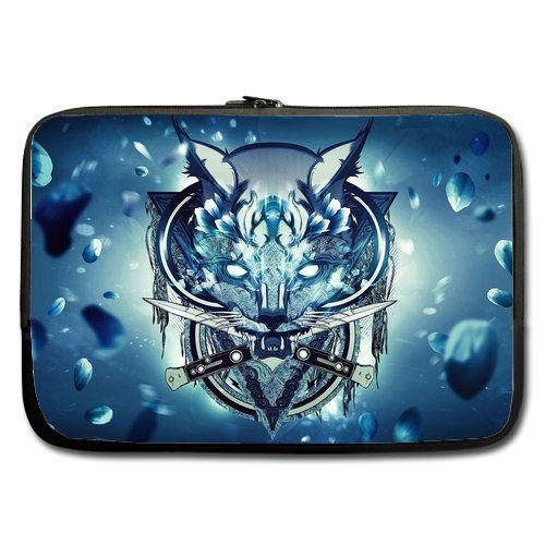 Wolf With Knives Sleeve For Macbook Pro 13 Inch (Two Sides)