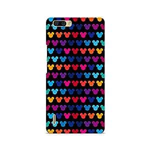 Ebby Mickie Mulitcolor on Black Premium Printed Case For Huawei Honor 6 Plus