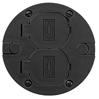 Hubbell Wiring Systems Pfbrcbla Round Plastic Floor Box