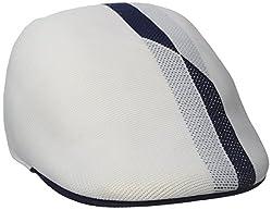 Kangol Men's Split Stripe Adj 507, White, Small
