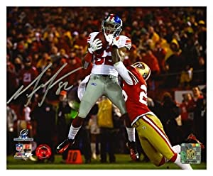 Mario Manningham New York Giants Signed Autographed 8x10 Photo
