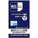 OCN 「BIC モバイル ONE」 プリペイド・データ通信専用・SMS非対応・Micro SIM OCN010
