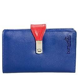 Butterflies Womens Wallet (BLUE) (BNS 2147)