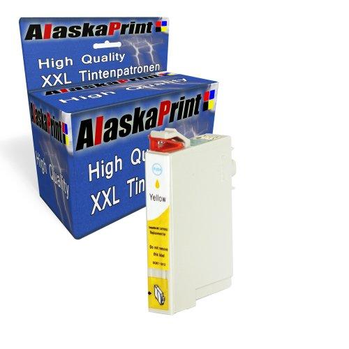 1x Druckerpatrone Ersatz für Epson T2434 XL Original alaskaprint Tinte Yellow, 13ml Ersatz für Epson (C13T24344010) , ( Epson T2434xl, EpsonT2434xl, ,EpsonT2434 xl, ),gelb
