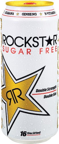 Rockstar Sugar Free Energy Drink, 16-Ounce Cans (Pack of 24)
