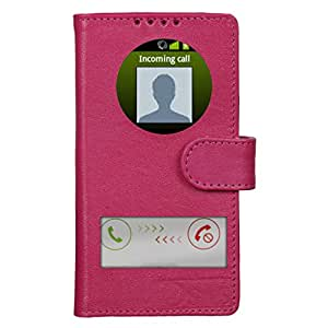 Dsas Geniune leather Flip cover with screen Display Cut Outs designed for Samsung Galaxy Grand Prime SM-G530