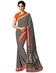 AG Lifestyle Women's Silk Saree(SD110, Black)