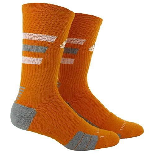 adidas Team Speed Traxion Crew Socks, Light Orange/White/Alu