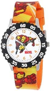Marvel Comics Kids' W000118 Iron Man Stainless Steel Time Teacher Watch