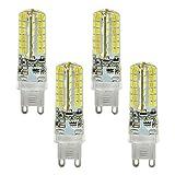 4X MENGS® G9 LED Lampe 5W AC 220-240V all-in one Warmweiß und Kaltweiß 96x3014 SMD Mit Silikon Material