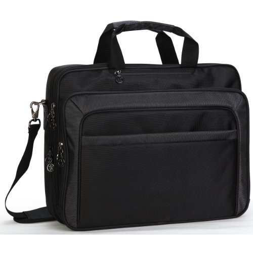 14 inch Criminal Multiple Compartments Laptop Notebook Briefcase Computer Bag + Reject Strap for MacBook Pro with Retina Display Acer HP Dell Samsung