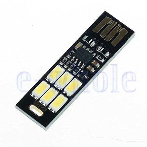 GAOHOU Ultra-thin 6LED Super Helle Nachtlicht mit USB-Anschluss, Touch dimmer, Keychain USB Beleuchtung DIY Spielzeug