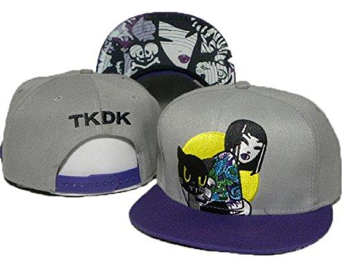 Tokidoki cappelli di baseball cappello registrabile (grigio, tesa viola)