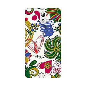 Garmor Designer Silicone Back Cover For Panasonic P50 Idol