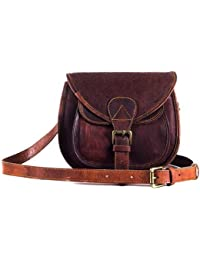 "Goatter Genuine Leather Dark Brown Sling Bag For Girls And Women H7"" W9"" L4"" (Brown)"