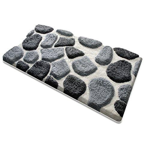 badematte patty aus flauschigem hochflor zum set kombinierbar grau wei 5 gr en w hlbar. Black Bedroom Furniture Sets. Home Design Ideas
