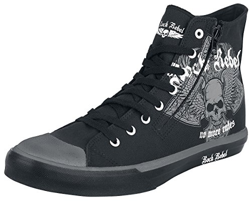 Rock Rebel by EMP No More Rules Sneaker Scarpe nero EU43