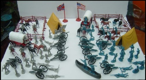 Buy Civil War Soldier 101 Piece Playset: Bucket of 54mm Plastic Army Men and Accessories 1:32 Scale