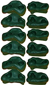 Rock Pegs Small for Indoor & Outdoor Rock Wall to Get Kids Exercise Climbing to Strength Upper Body known as Rock hold - rock climbing wall (Green(3-Packs))