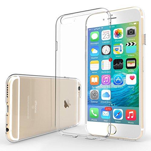 Yousave-Accessories-iPhone-6S-6-Custodia-Protettiva-Trasparente-Ultrasottile-Di-Gel-In-Silicone-TPU-05-Mm-Misure-Perfette