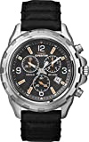 Timex Expedition Men's Quartz Watch with Black Dial Chronograph Display and Black Leather Strap - T49985