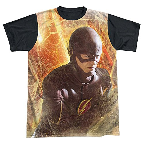 Sublimation Black Back: Town The Flash T-Shirt