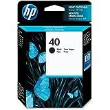 HP 40 Black Ink Cartridge. DESIGNJET BLACK CART 450C 488CA 250C 350C 650C 1200C COP I-SUPL. Black - Inkjet - 1100 Page - 1 Each - Retail