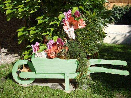 Grande brouette/brouette holzschubkarre-garten deko 110 cm bac à fleurs, hSC pot vert - 110-pot de fleurs en bois naturel sombre vert amazon pot de fleurs et pots