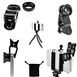 CamRah-iPhone-Camera-Lens-Kit-with-3-Universal-Lenses-Fisheye-Wide-Angle-and-Macro-2-Lens-Clips-Octopus-Tripod-storage-bag-and-photo-tips