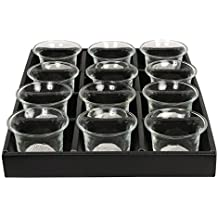 Hosley's Set Of 12 Clear Glass Oyster Tea Light Holders - 2.5 Diameter By Hosley International