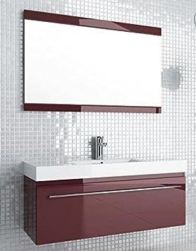 Badmöbelanlage Decora, schwarz, 120 cm mit Waschbecken, Unterschrank, Spiegel und Beleuchtung, 0400-542911Z