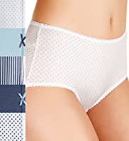 5 Pack Cotton Rich High Rise Assorted Midi Knickers