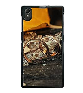 Fuson Premium 2D Back Case Cover Copule Rings With Others Background Degined For Sony Xperia Z1::Sony Xperia Z1 L39h