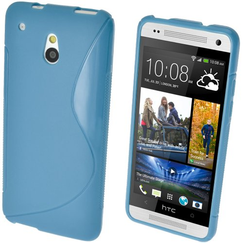 iGadgitz HTC One S-Line TPU Case (HTC One Mini M4, Blau)