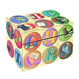 ABC Circles Photo Storage Box