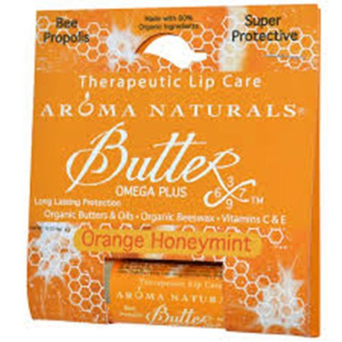 Aroma Naturals Therapeutic Lip Care, Orange Honey Mint, 0.15 Ounce