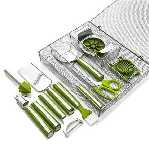 Green Wolfgang Puck 11-Piece Complete Kitchen Tool Kit
