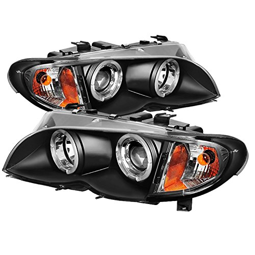 Spyder Auto PRO-YD-BMWE4602-4D-AM-BK BMW E46 3-Series 4-Door Black Halo Projector Headlight (Bmw E46 Rims compare prices)