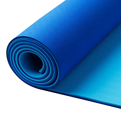Crazo-Extra-Long-TPE-Yoga-Mat-Non-Slip-Exercise-Mat-Eco-Friendly-without-Chemical-Smell14-inch-thickness-with-strap-Washable-and-Durable-Difficut-to-Deform