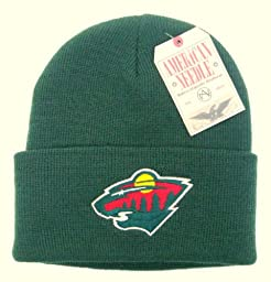 NHL Hockey American Needle Minnesota Wild Basic Green Knit Hat