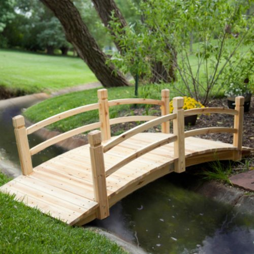 Garden D cor: Harrison 6-ft. Cedar Garden Bridge